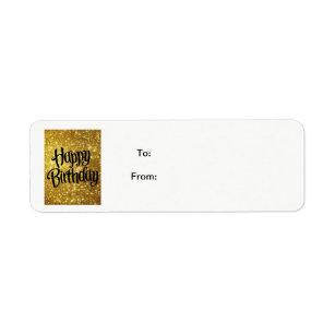 Happy Birthday Tag Return Address Labels Zazzle