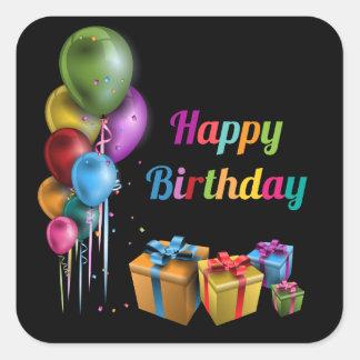 Happy Birthday sticker square
