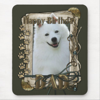 Happy Birthday - Stone Paws - American Eskimo -Dad Mouse Pad