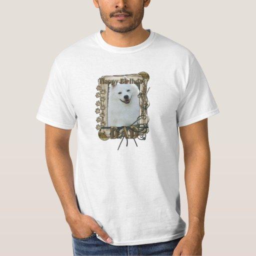 Happy Birthday - Stone Paws - American Eskimo -Dad Tee Shirt