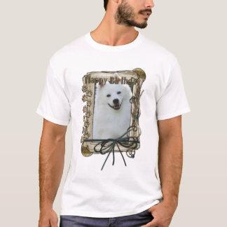 Happy Birthday - Stone Paws - American Eskimo T-Shirt