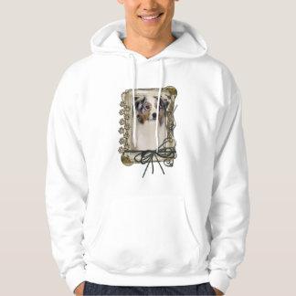 Happy Birthday - Stone Paws - Australian Shepherd Hoodie