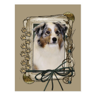 Happy Birthday - Stone Paws - Australian Shepherd Postcard