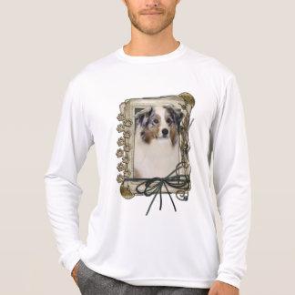 Happy Birthday - Stone Paws - Australian Shepherd Shirt