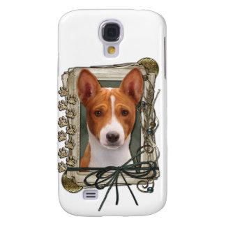 Happy Birthday - Stone Paws - Basenji Galaxy S4 Case