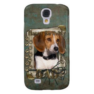 Happy Birthday - Stone Paws - Beagle - Dad Samsung Galaxy S4 Cover
