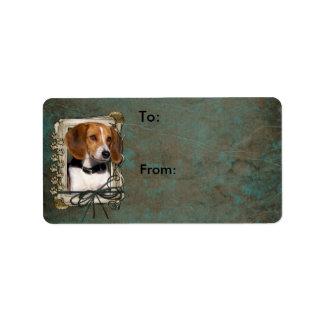 Happy Birthday - Stone Paws - Beagle Label
