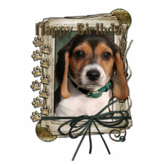 Happy Birthday - Stone Paws - Beagle Puppy Statuette
