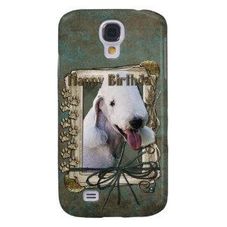 Happy Birthday - Stone Paws - Bedlington Terrier Samsung Galaxy S4 Cover