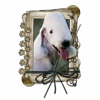Happy Birthday - Stone Paws - Bedlington Terrier Statuette