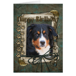Happy Birthday - Stone Paws - Bernese Mountain Dog Card