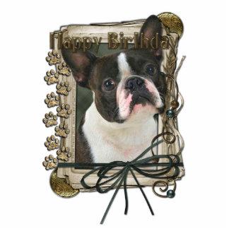 Happy Birthday - Stone Paws - Boston Terrier Cutout