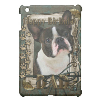 Happy Birthday - Stone Paws - Boston Terrier - Dad Case For The iPad Mini