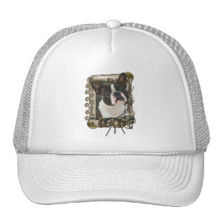 Happy Birthday - Stone Paws - Boston Terrier - Dad Hats