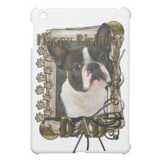 Happy Birthday - Stone Paws - Boston Terrier - Dad iPad Mini Cover