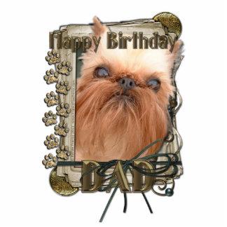 Happy Birthday - Stone Paws - Brussels Griffon Dad Cutout