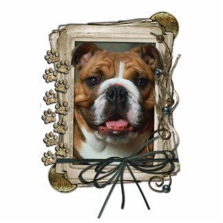 Happy Birthday - Stone Paws - Bulldog Cutout