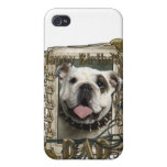 Happy Birthday - Stone Paws - Bulldog - Dad Case For iPhone 4