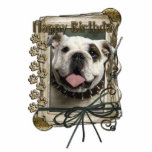 Happy Birthday - Stone Paws - Bulldog Photo Cut Outs