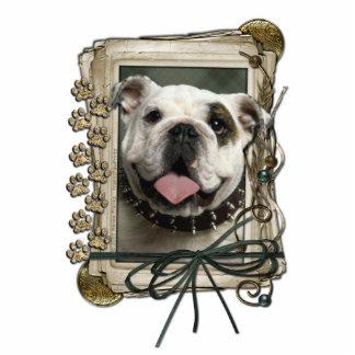 Happy Birthday - Stone Paws - Bulldog Statuette