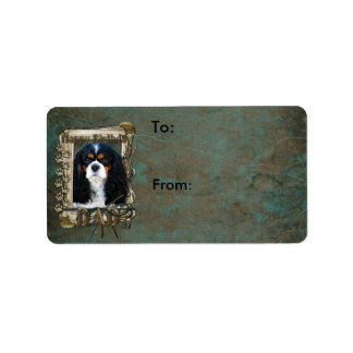 Happy Birthday - Stone Paws - Cavalier - Dad Label