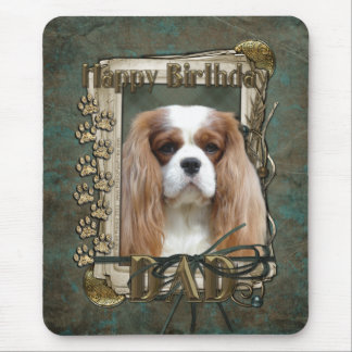 Happy Birthday - Stone Paws - Cavalier - Dad Mouse Pad