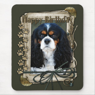 Happy Birthday - Stone Paws - Cavalier Mouse Pad
