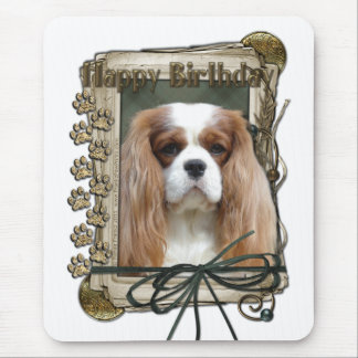 Happy Birthday - Stone Paws - Cavalier Mouse Pad