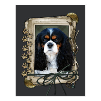 Happy Birthday - Stone Paws - Cavalier Postcard