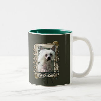Happy Birthday - Stone Paws -Chinese Crested Kahlo Two-Tone Coffee Mug