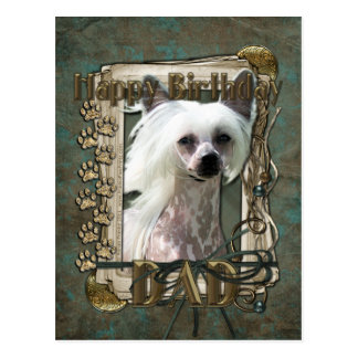 Happy Birthday - Stone Paws- Chinese Crested Kahlo Postcard