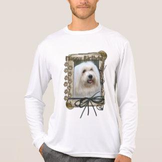 Happy Birthday - Stone Paws - Coton de Tulear T Shirt