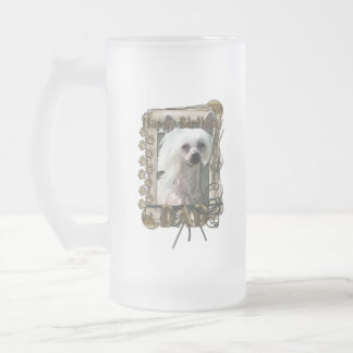 Happy Birthday - Stone Paws - Crestie - Kahlo -Dad 16 Oz Frosted Glass Beer Mug
