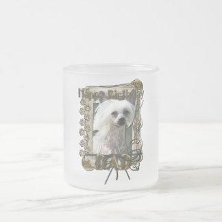 Happy Birthday - Stone Paws - Crestie - Kahlo -Dad 10 Oz Frosted Glass Coffee Mug