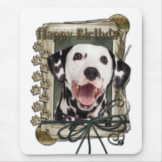 Happy Birthday - Stone Paws - Dalmatian Mouse Pad