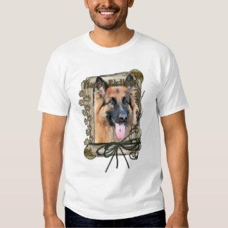Happy Birthday - Stone Paws German Shepherd Chance T Shirt