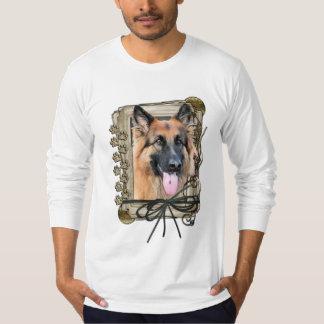 Happy Birthday - Stone Paws German Shepherd Chance T-shirt