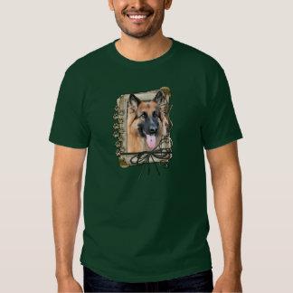 Happy Birthday - Stone Paws German Shepherd Chance Tee Shirt