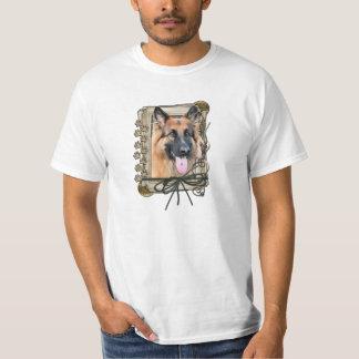 Happy Birthday - Stone Paws German Shepherd Chance Tee Shirts