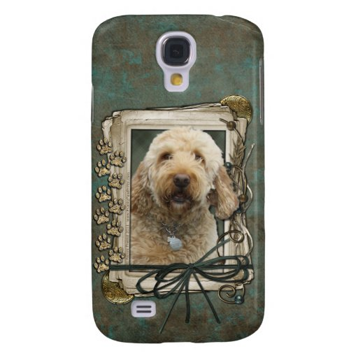 Happy Birthday - Stone Paws - GoldenDoodle Galaxy S4 Cover
