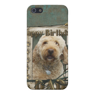 Happy Birthday - Stone Paws - GoldenDoodle - Dad iPhone 5 Cases