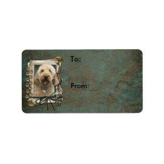 Happy Birthday - Stone Paws - GoldenDoodle Label