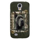 Happy Birthday - Stone Paws - Great Dane - Grey Galaxy S4 Cover