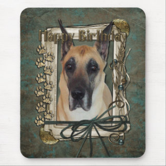 Happy Birthday - Stone Paws - Great Dane Mouse Pad