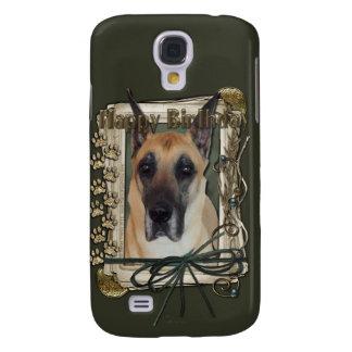 Happy Birthday - Stone Paws - Great Dane Samsung Galaxy S4 Case