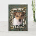 "Happy Birthday - Stone Paws - Jack Russell Card<br><div class=""desc"">What could say Happy Birthday better than this Jack Russell Dog helping you to celebrate!</div>"