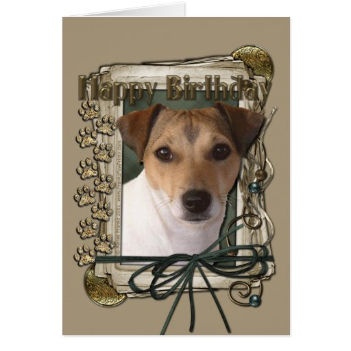 Happy Birthday - Stone Paws - Jack Russell Greeting Cards