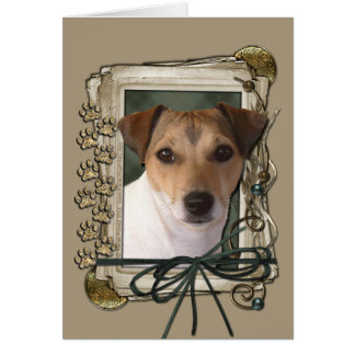 Happy Birthday - Stone Paws - Jack Russell Greeting Card
