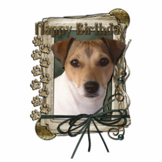 Happy Birthday - Stone Paws - Jack Russell Cutout