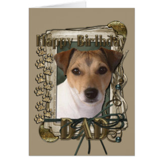 Happy Birthday - Stone Paws - Jack Russell - Dad Card
